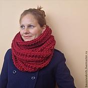 Аксессуары ручной работы. Ярмарка Мастеров - ручная работа Объемный шарф-снуд из альпаки в два оборота. Handmade.