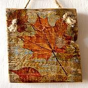 Для дома и интерьера ручной работы. Ярмарка Мастеров - ручная работа «Сказочная осень» панно на дереве. Handmade.