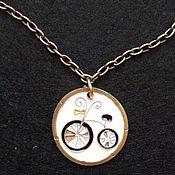 """Украшения ручной работы. Ярмарка Мастеров - ручная работа Кулон """"Я буду долго гнать велосипед"""". Handmade."""