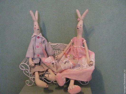 Куклы Тильды ручной работы. Ярмарка Мастеров - ручная работа. Купить Сладкая парочка. Handmade. Бледно-розовый, тильда заяц