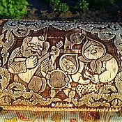 """Для дома и интерьера ручной работы. Ярмарка Мастеров - ручная работа Хлебница из бересты """"Колобок"""". Handmade."""