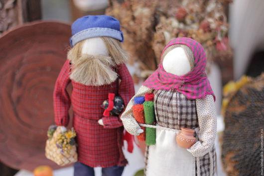 """Народные куклы ручной работы. Ярмарка Мастеров - ручная работа. Купить """"Ярмарочный день"""". Handmade. Разноцветный, домотканое полотно"""