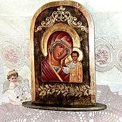 Картины и панно handmade. Livemaster - original item The icon of the virgin, decoupage. Handmade.