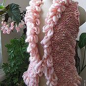 """Одежда ручной работы. Ярмарка Мастеров - ручная работа Жилетка """"Розовый туман"""". Handmade."""