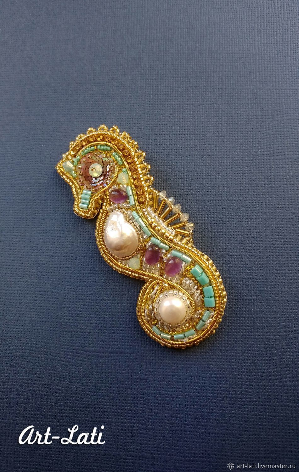 """Brooches """"Seahorse"""" (Various), Brooches, Moscow,  Фото №1"""