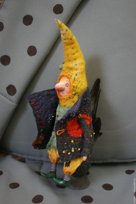 Сказочные персонажи ручной работы. Ярмарка Мастеров - ручная работа. Купить Гном Первоцвет. Handmade. Авторская кукла, лоскутное одеяло