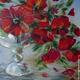 """Картины цветов ручной работы. картина из шерсти """"Маки"""". Шерсть (liliyalange). Интернет-магазин Ярмарка Мастеров. Цветы ручной работы"""