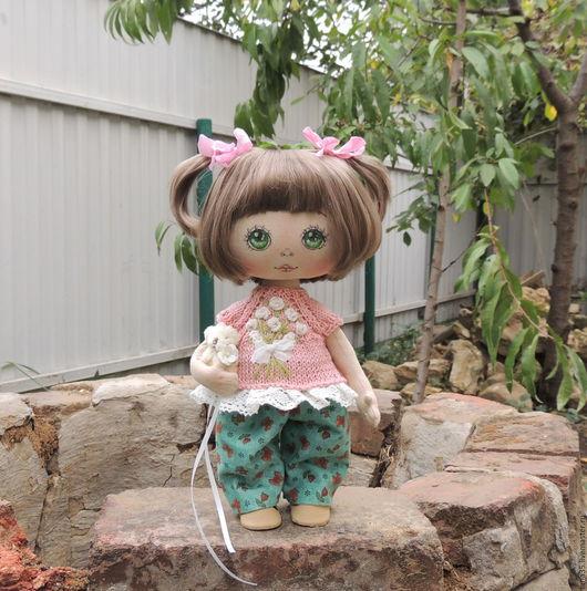 Коллекционные куклы ручной работы. Ярмарка Мастеров - ручная работа. Купить Малышка. Handmade. Комбинированный, подарок девушке, лён