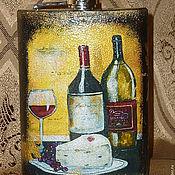 """Сувениры и подарки ручной работы. Ярмарка Мастеров - ручная работа Фляжка """"Терпкое вино"""". Handmade."""