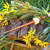 Материалы для творчества handmade. Livemaster - original item Tibetan support Spindle for spinning Siberian Cedar Wood #B31. Handmade.