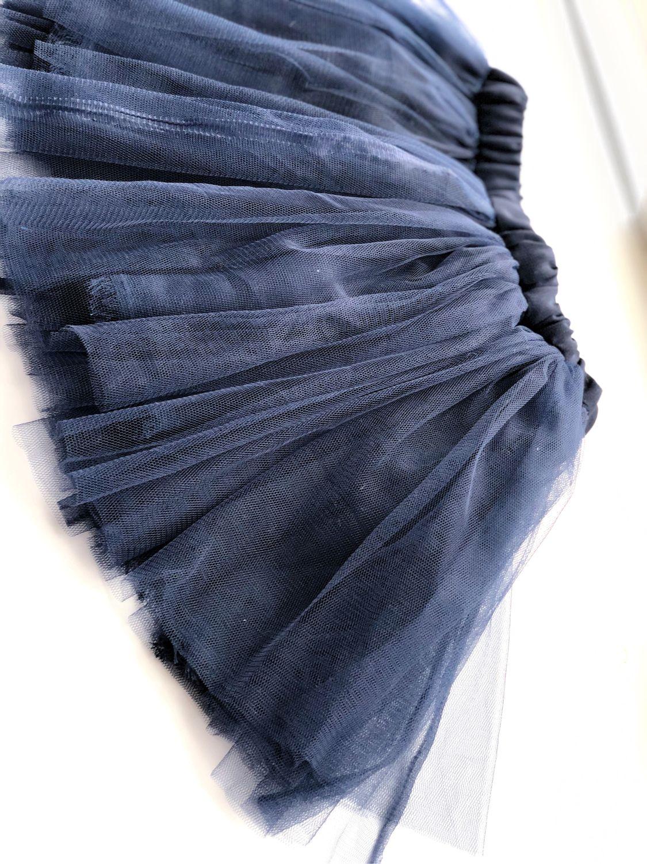 синяя Детская Юбка пачка из мягкой сетки