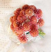 Цветы и флористика ручной работы. Ярмарка Мастеров - ручная работа Гомфрена розовая маленький букетик. Handmade.