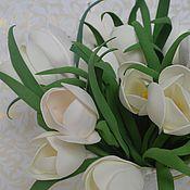 Цветы и флористика ручной работы. Ярмарка Мастеров - ручная работа Крокусы белые. Handmade.