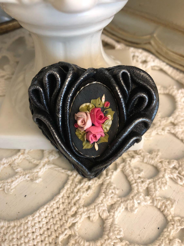Brooch HEARTFELT GREETINGS (Leather), Brooches, Kaluga,  Фото №1