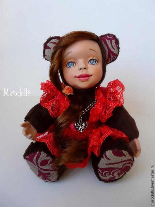 Коллекционные куклы ручной работы. Ярмарка Мастеров - ручная работа. Купить Дашенька Тедди Долл. Handmade. Коричневый, кукла интерьерная