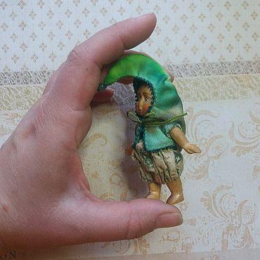 Куклы и игрушки ручной работы. Ярмарка Мастеров - ручная работа Горошек, кукла из дерева 7 см. Handmade.