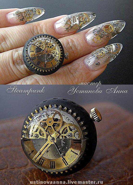 увеличьте фото, для наилучшего просмотра! \r\nНогти делала у томского мастера специально, от большой любви к этому прекрасному изумительному стилю, к Стимпанку... :)