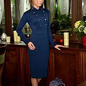 Одежда ручной работы. Ярмарка Мастеров - ручная работа офисное платье в стиле  милитари. Handmade.