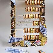 Подарки к праздникам ручной работы. Ярмарка Мастеров - ручная работа Букет из конфет счёты Милый мой бухгалтер. Handmade.
