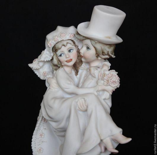 Винтажные предметы интерьера. Ярмарка Мастеров - ручная работа. Купить Невеста жених пара цветы Armani Каподимонте 28. Handmade.