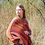 Одежда ручной работы. Ярмарка Мастеров - ручная работа Пончо Indian summer без воротника. Handmade.