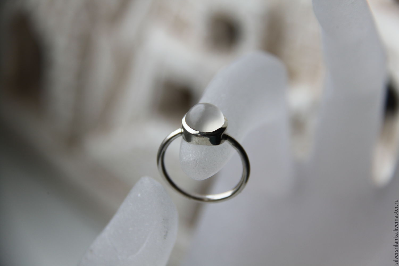 Кольца ручной работы. Ярмарка Мастеров - ручная работа. Купить Колечко(2) с лунным камнем. Handmade. Белый, кольца, Камни натуральные