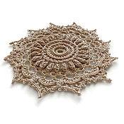 Для дома и интерьера handmade. Livemaster - original item Set volume napkins - coasters knitted cotton. Handmade.
