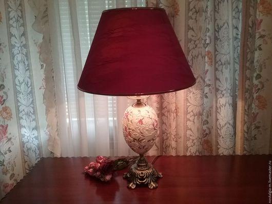 Освещение ручной работы. Ярмарка Мастеров - ручная работа. Купить -15% Настольная лампа Ажурная. Handmade. Белый, бронзовая фурнитура
