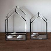 Для дома и интерьера ручной работы. Ярмарка Мастеров - ручная работа Домик из стекла большой 12х20х20. Handmade.