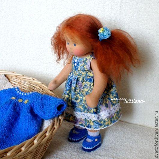 Вальдорфская игрушка ручной работы. Ярмарка Мастеров - ручная работа. Купить Юлечка, 32 см. Handmade. Вальдорфская кукла, подарок