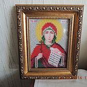 Картины и панно ручной работы. Ярмарка Мастеров - ручная работа именные иконы бисером. Handmade.