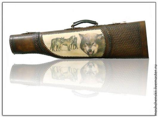 Персональные подарки ручной работы. Ярмарка Мастеров - ручная работа. Купить чехол для охотничьего ружья. Handmade. Коричневый, искуственный мех
