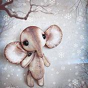 Куклы и игрушки ручной работы. Ярмарка Мастеров - ручная работа Слоненок Ильюшка. Handmade.