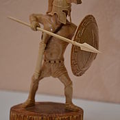 Для дома и интерьера handmade. Livemaster - original item Sculpture of a warrior from the tree Spartan. Handmade.
