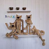 Куклы и игрушки ручной работы. Ярмарка Мастеров - ручная работа Кот Relax. Handmade.