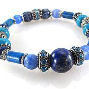 Украшения handmade. Livemaster - original item b 38 a Bracelet with lapis lazuli, agate and Turkmenistan.. Handmade.