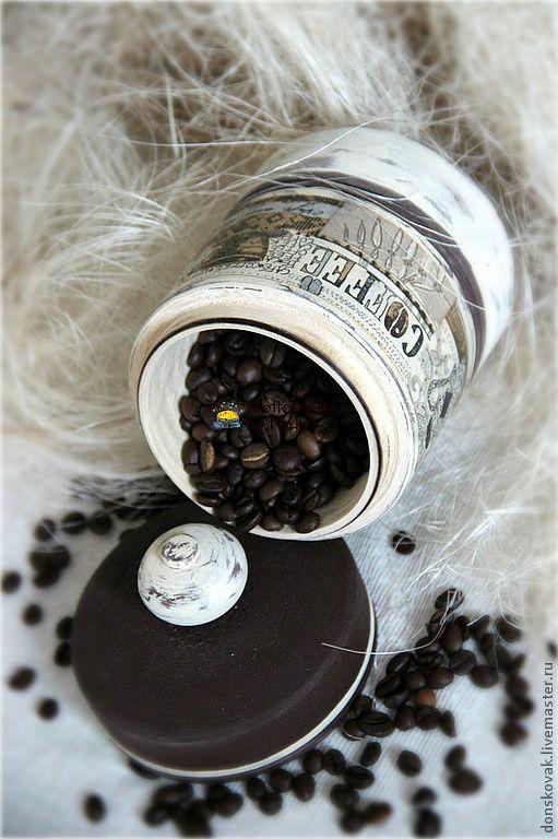 """Кухня ручной работы. Ярмарка Мастеров - ручная работа. Купить Деревянная баночка для хранения """"COFFEE"""". Handmade. Коричневый, банка для чая"""