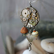 Украшения handmade. Livemaster - original item Pendant: with a clock mechanism