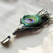 Свадебный салон handmade. Livemaster - original item Boutonniere out of feathers. Handmade.