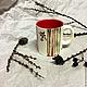 Кружки и чашки ручной работы. Чашка с гранатом. Ta-ceramica (Ta-ceramica). Интернет-магазин Ярмарка Мастеров. Чашка, гранат
