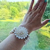 Украшения handmade. Livemaster - original item Chrysanthemum bracelet made of natural pearls.. Handmade.