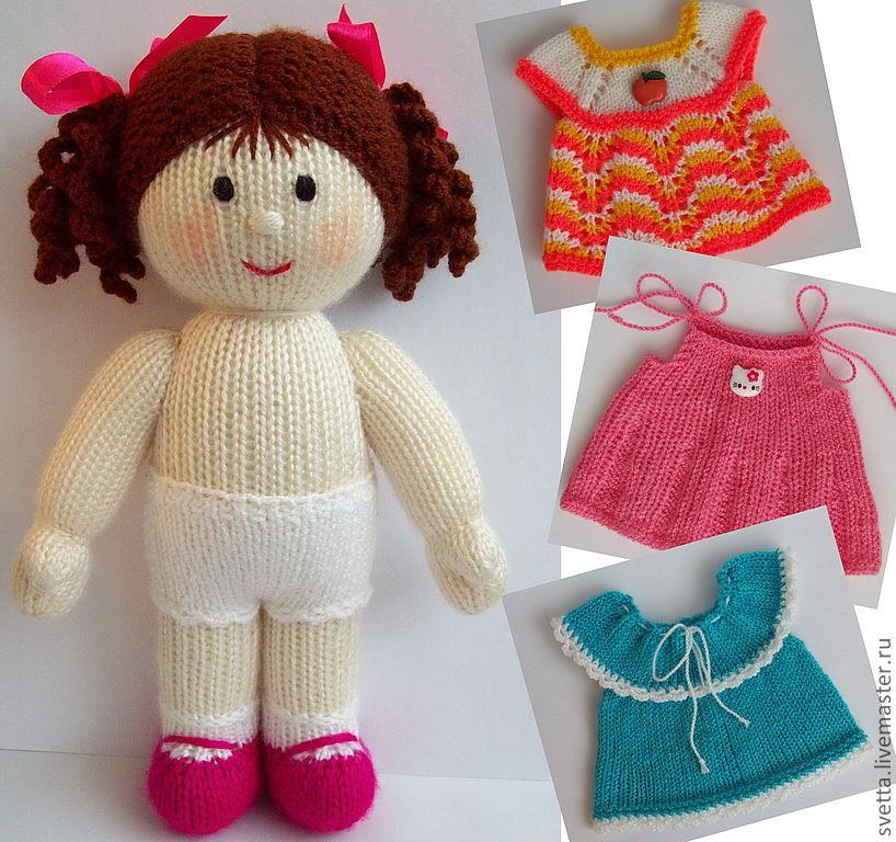 Мк вязание куклы спицами 688