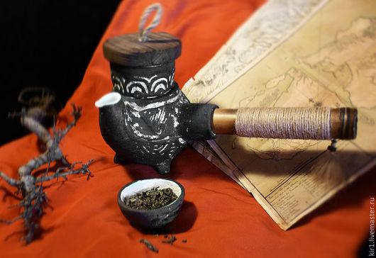 """Чайники, кофейники ручной работы. Ярмарка Мастеров - ручная работа. Купить Чайник индийский """"Нарджилинг"""". Handmade. Рыжий, авторская керамика"""