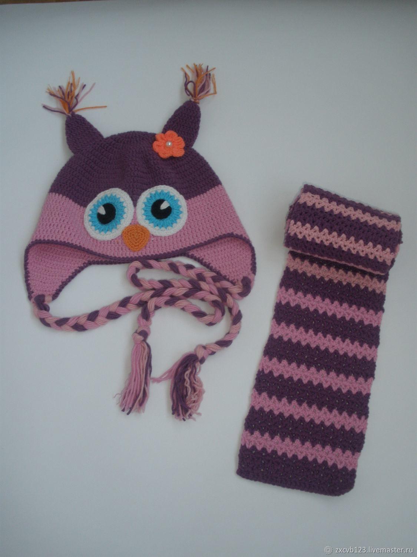Комплекты аксессуаров: шапочка и шарф, Детские аксессуары, Ногинск, Фото №1