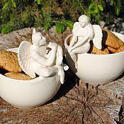 """Посуда ручной работы. Ярмарка Мастеров - ручная работа Набор конфетниц """"Ангельское настроение"""". Handmade."""