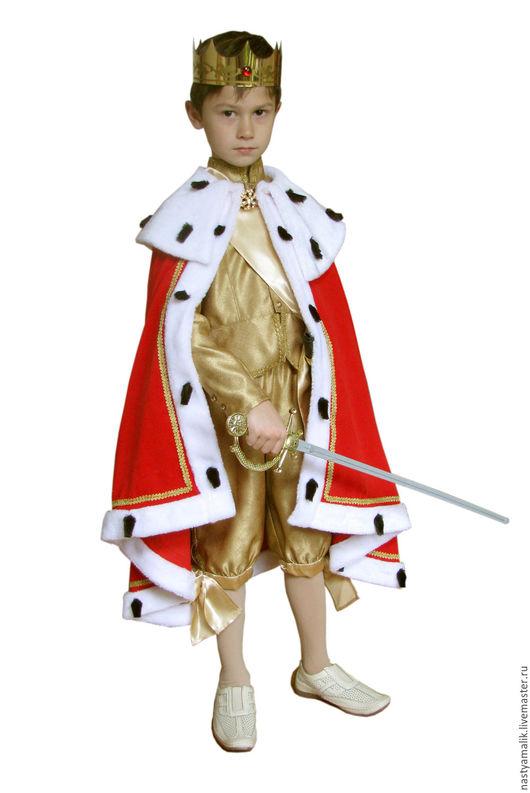 Карнавальные костюмы ручной работы. Ярмарка Мастеров - ручная работа. Купить Мантия короля.. Handmade. Ярко-красный, бархат, бархат