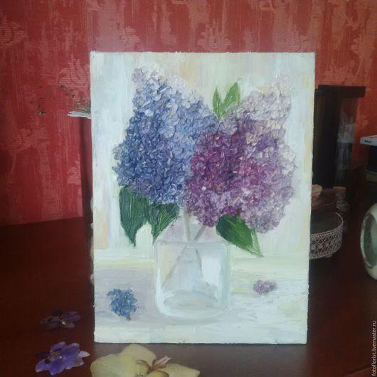 Картины цветов ручной работы. Ярмарка Мастеров - ручная работа. Купить Сирень. Handmade. Сиреневый, подарок, масляная живопись