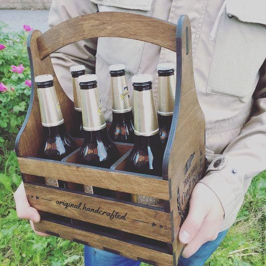 Корзины, коробы ручной работы. Ярмарка Мастеров - ручная работа. Купить Ящик для пива. Handmade. Коричневый, ящик из дерева