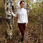 Одежда ручной работы. Ярмарка Мастеров - ручная работа Вязаный белый свитер. Handmade.