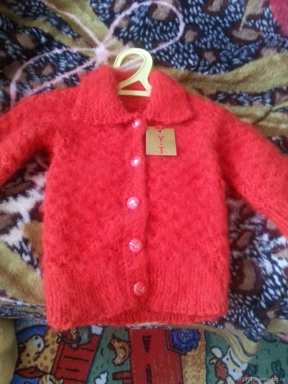 Кофты и свитера ручной работы. Ярмарка Мастеров - ручная работа. Купить Ярко красная кофточка. Handmade. Красный, алый
